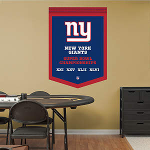 New York Giants Super Bowl Champions Banner Fathead Wall Decal
